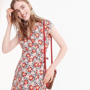 J. Crew Mercantile | Easy Wrap Floral Midi Dress
